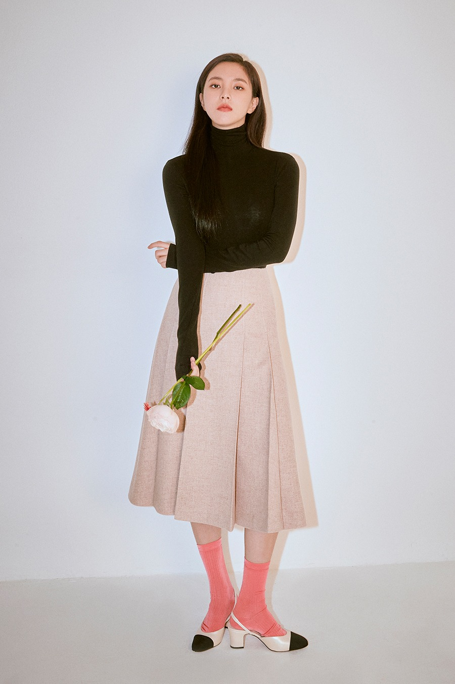 NO.1 SKIRT - BEIGE